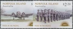 NFI SG1307-8 Norfolk Island: Peace in the Pacific set of 2